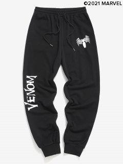 Marvel Spider-Man Venom Print Sweatpants - Black Xl