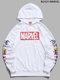 Marvel Spider-Man Spider-Girl Venom Stampa Kangaroo Pocket Con Cappuccio - Bianca 2xl