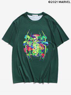 Marvel Spider-Man Short Sleeve Grafik-Druck-T-Shirt - Dunkelgrün 2xl