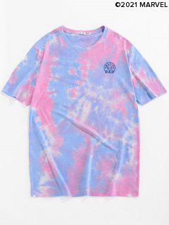 Marvel Spider-Man Amazing Dad Graphic Tie Dye T-shirt - Pink L