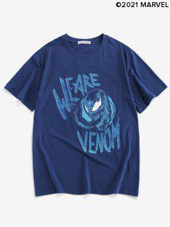 Maglietta con Grafica di Marvel Spider-Man & Venom - Blu Scura Denim  M
