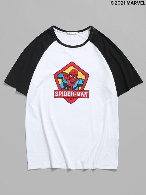 T-shirt Marvel Spider-Man Imprimée à Manches Courtes - Blanc S Mobile