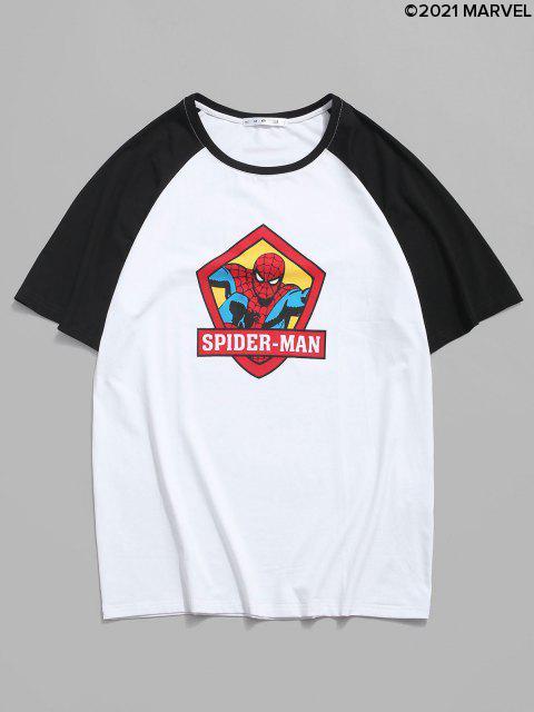 CamisetaMarvelde Mangas CortasconEstampadodeSpider-ManyLetras - Blanco S Mobile