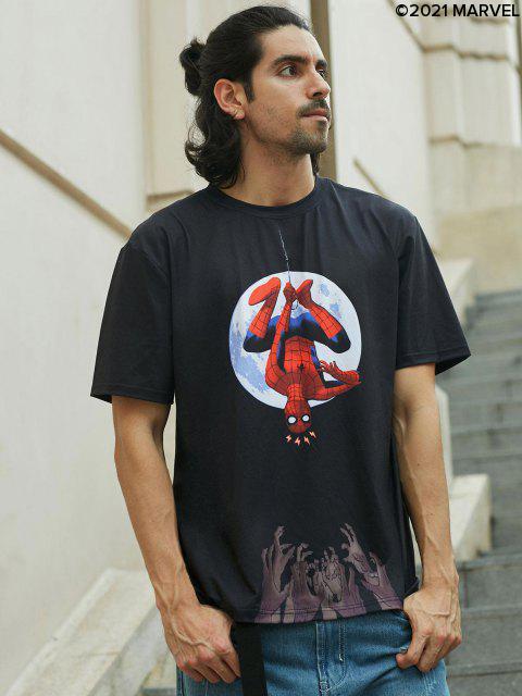 T-shirtde BaseLuneMarvel Spider-Man - Noir S Mobile