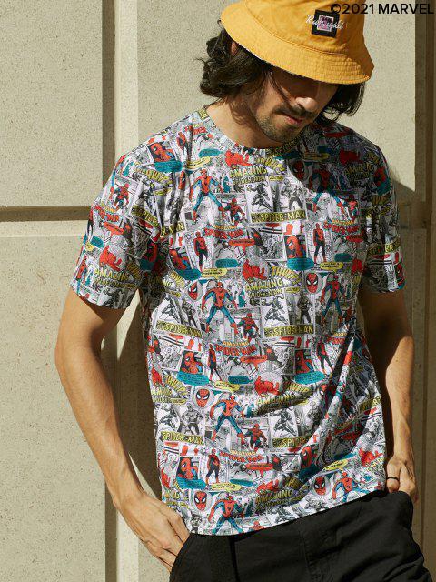 T-shirtGraphiqueMotifMarvel Spider-Man - Multi M Mobile
