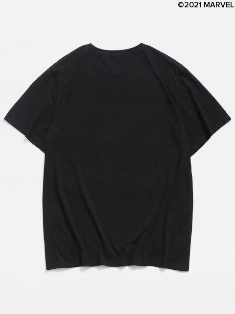T-shirtdeBaseLettreMarvelSpider-Man - Noir S Mobile