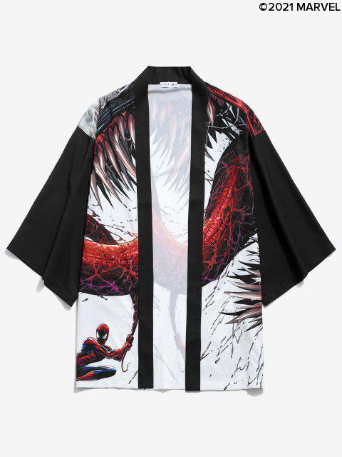 Marvel Spider-Man Venom offener Vorderseite Kimono - Schwarz S Mobile