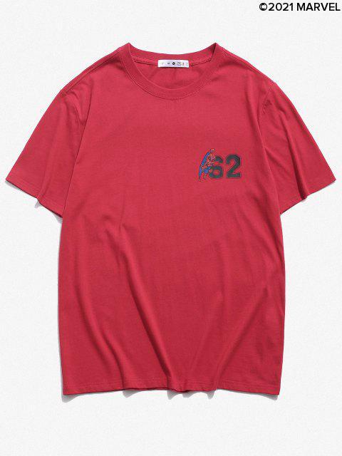 T-shirtde BaseMarvel Spider-Man - Rouge S Mobile