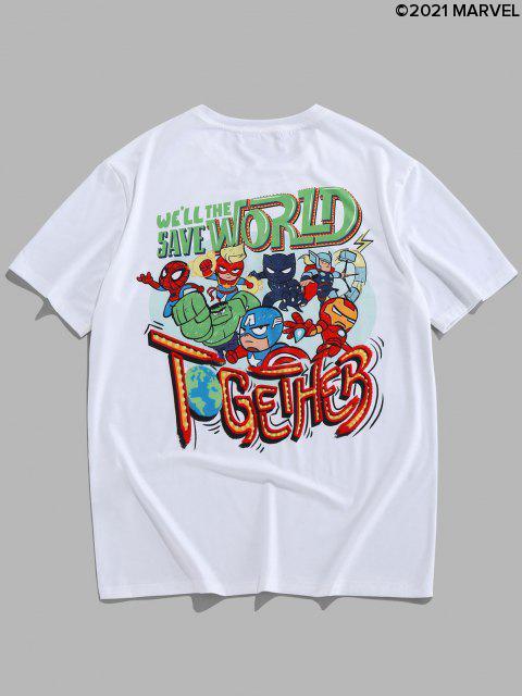 Camiseta GráficaconEstampadodeSpider-Man - Blanco M Mobile