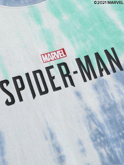 T-shirtTeintéMarvelSpider-Man Imprimé - Turquoise Moyenne  XL Mobile