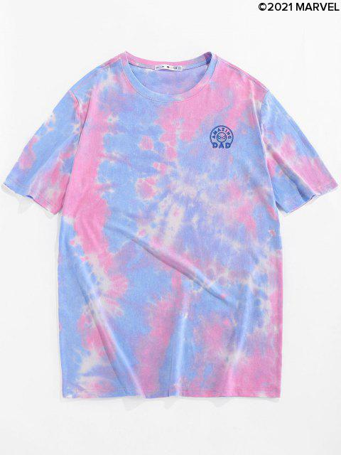 Camiseta de Tie-dyeconEstampadodeSpider-Man - Rosa S Mobile