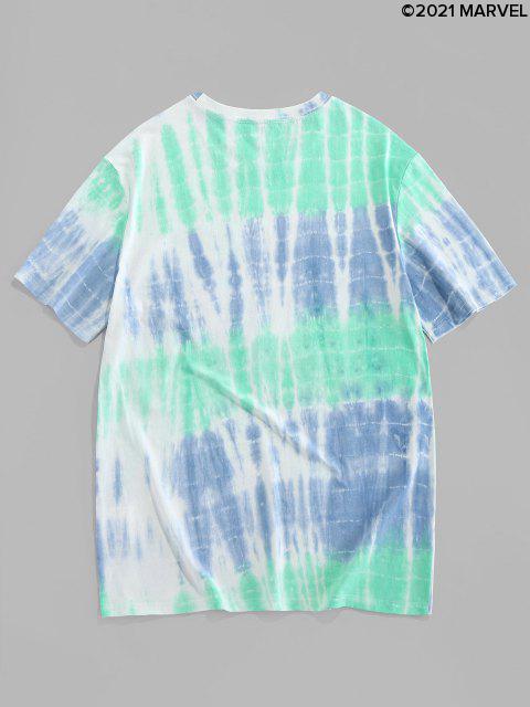 T-Shirt Casuale con Stampa Ragno - Turchese Medio L Mobile
