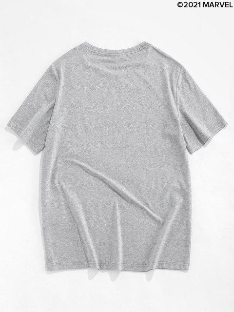 Marvel Spider-Man Patterned Basic T-Shirt - Platin 2XL Mobile