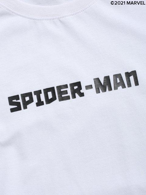 online Marvel Spider-Man Long Sleeve T-shirt - WHITE M Mobile
