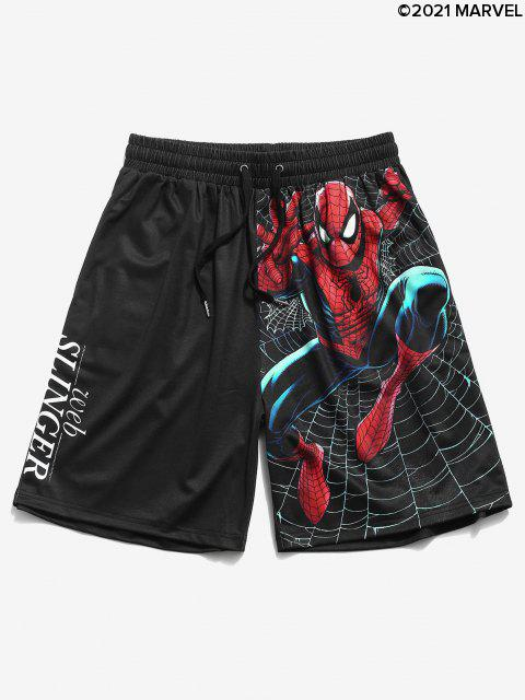 Marvel Spider-Man Slinger Grapfik Shorts - Schwarz M Mobile
