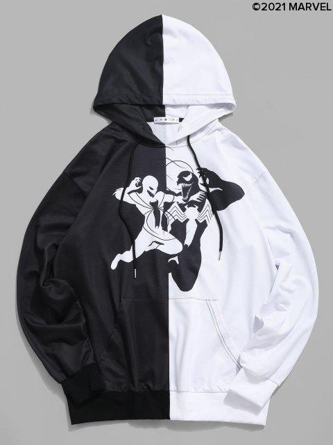 shop Marvel Spider-Man Venom Graphic Two Tone Hoodie - BLACK M Mobile