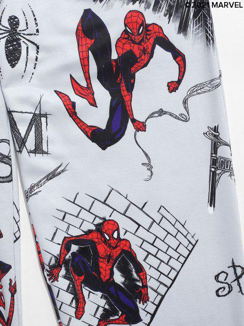 Marvel Spider-Man Graphic-Taschen-Flecken Jogger Hosen - Graue Wolke S Mobile