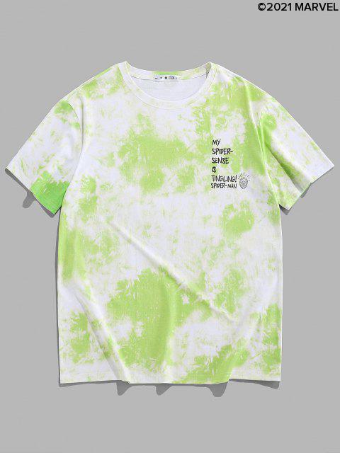 T-shirtTeintéLettreMarvel Spider-Man - Vert Pomme M Mobile