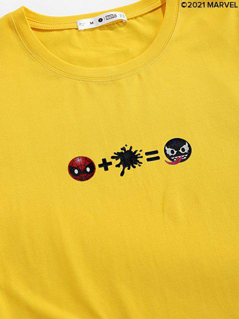 Marvel Spider-Man Venom Printed Basic T-Shirt - Helles Gelb S Mobile