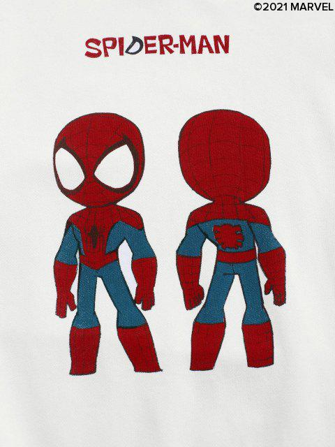 Sweat-shirt Graphique Marvel Spider-Man - Blanc M Mobile