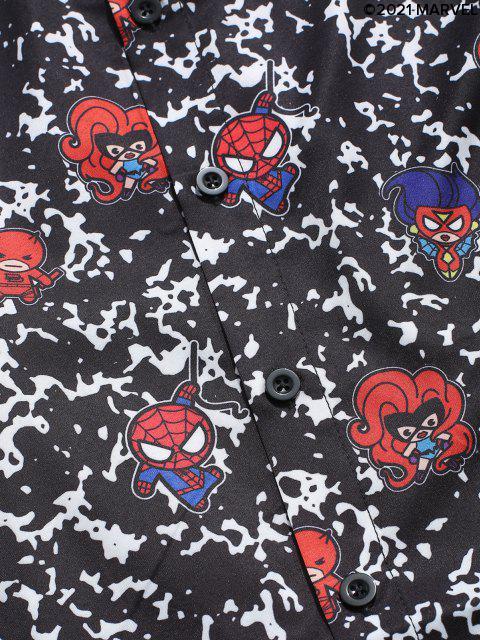 Camisa Estampado Caricatura - Negro S Mobile