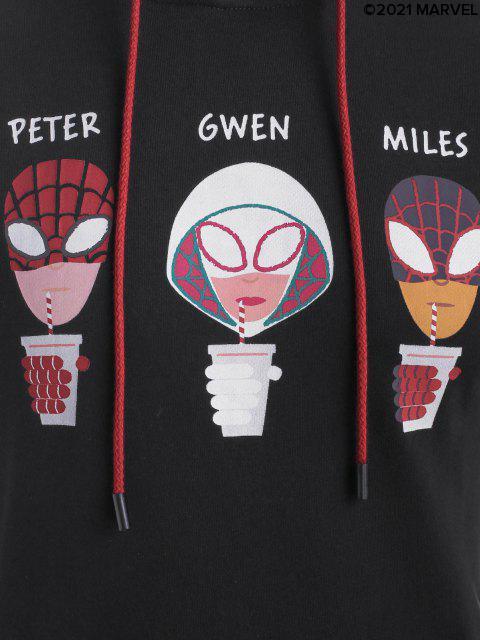 sale Marvel Spider-Man Spider-Girl Graphic Colorblock Hoodie - MULTI L Mobile