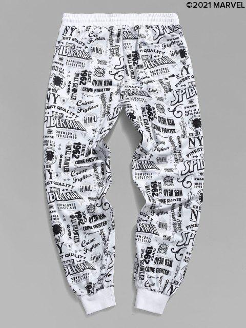 Pantalones Deportivos Estampado Spider-Man - Blanco S Mobile