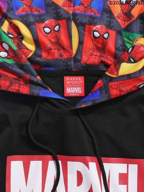 Sweat à Capuche Motif Géométrique Motif Marvel Spider-Man - Noir S Mobile
