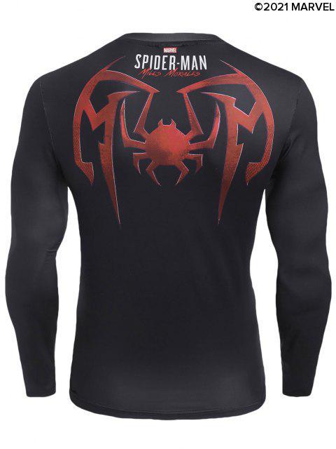 Marvel Spider-Man-Grafik-T - Schwarz S Mobile