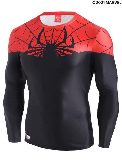 trendy Marvel Spider-Man Color Blocking Tee - BLACK L Mobile