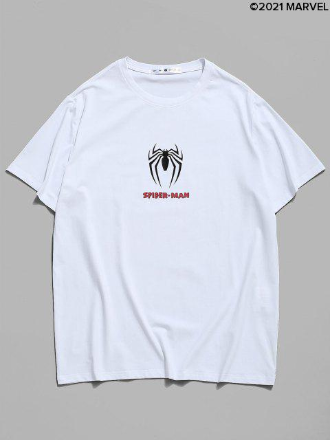 Marvel Spider-Man Ikonen-Druck-Grafik-T-Shirt - Weiß S Mobile