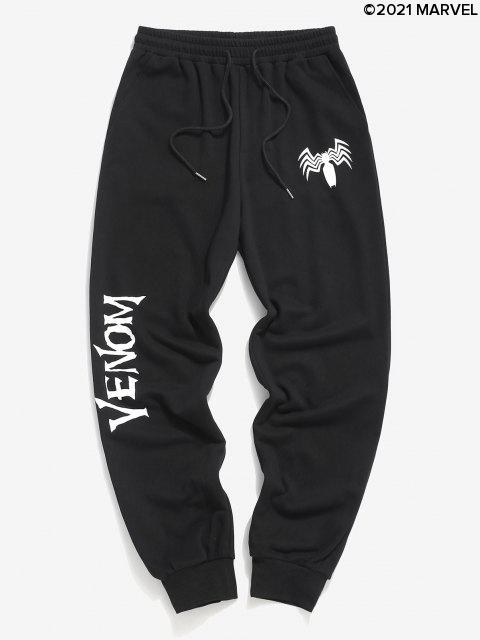 lady Marvel Spider-Man Venom Print Sweatpants - BLACK XL Mobile