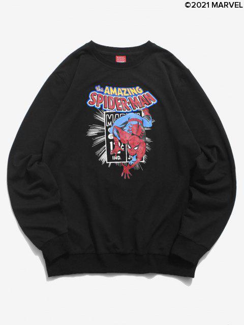 Sweat-shirtLettreGraphiqueMarvelSpider-ManImprimé - Noir S Mobile
