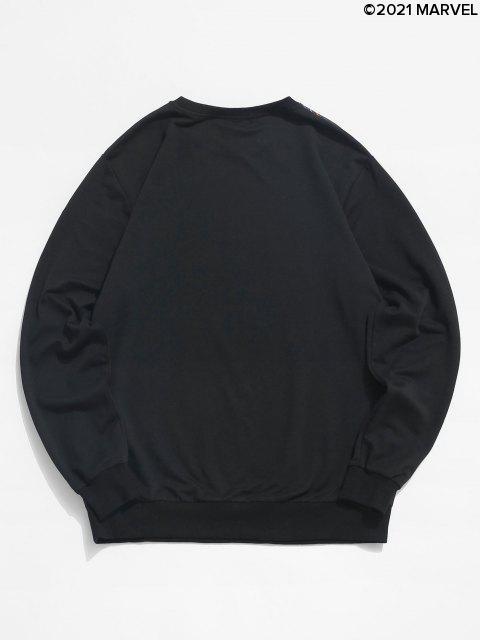Sweat-shirtPull-overMarvelSpider-ManImpriméàOurletTricoté - Noir S Mobile