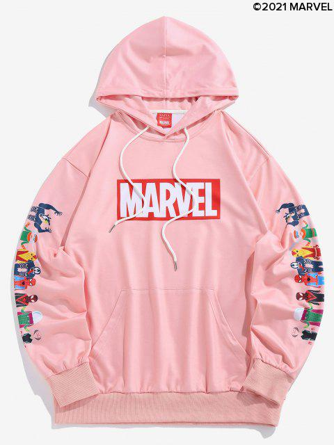 Marvel Spider-Man Spider-chica Venom Imprimir con capucha del bolsillo de canguro - Rosa Claro L Mobile