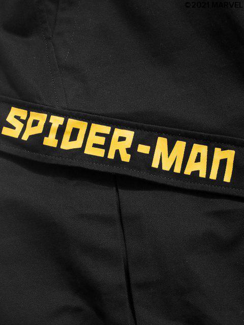 sale Marvel Spider-Man Elastic Waist Cargo Shorts - BLACK S Mobile