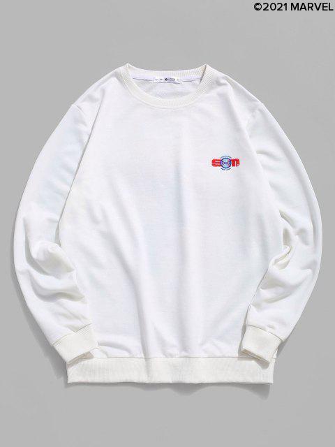 Sweat-shirtMarvelSpider-ManGraphiqueImpriméàOurletCôtelé - Blanc L Mobile