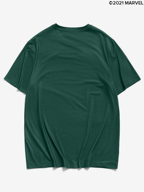 Marvel Spider-Man Short Sleeve Grafik-Druck-T-Shirt - Dunkelgrün S Mobile