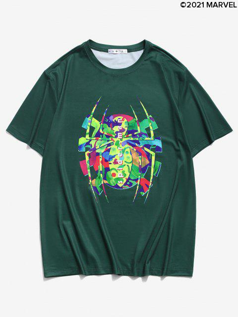 T-shirtGraphiqueMarvel Spider-ManImpriméàManchesCourtes - Vert profond M Mobile