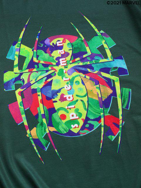 T-shirtGraphiqueMarvel Spider-ManImpriméàManchesCourtes - Vert profond 2XL Mobile