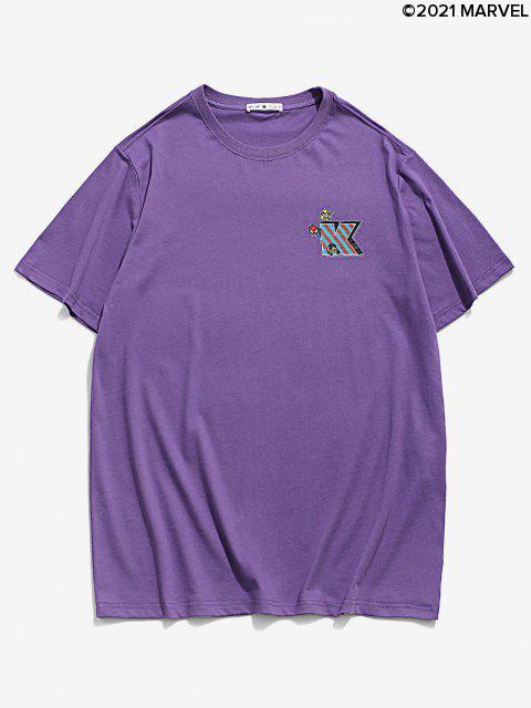 Camiseta BásicadeMarvelconEstampadodeSpider-Man - Amatista Morada M Mobile