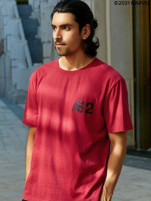 MagliettaBasic con Stampa diMarvelSpider-Man - Rosso XL Mobile