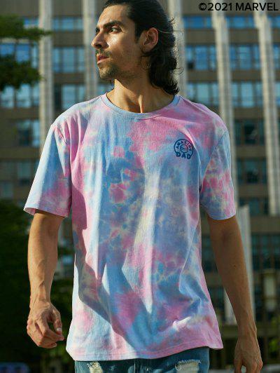 Marvel Spider-Man Amazing Dad Graphic Tie Dye T-shirt - Pink S