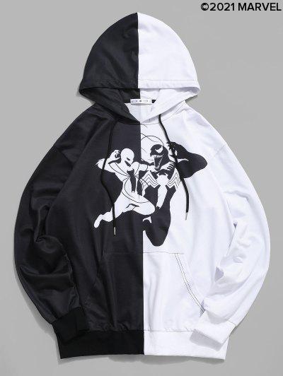 Sudadera Con Capucha De Dos Colores - Negro Xl