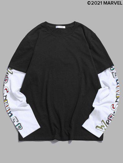 Marvel Spider-Man Web-spinner Doctor Sleeve T-shirt - Black S