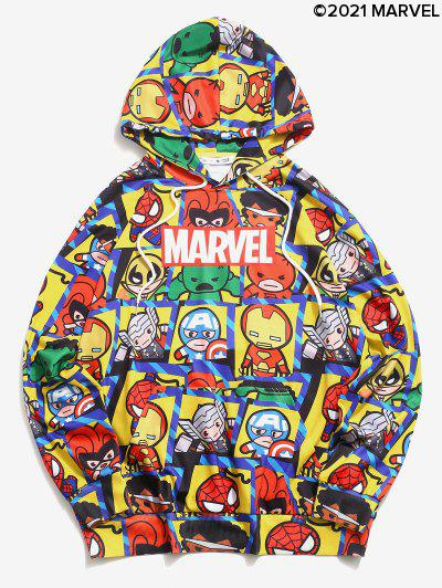 Marvel Spider-Man Heroes Graphic Hoodie - Yellow M