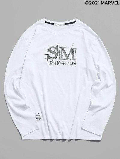 T-shirt De Base Lettre GraphiqueMarvelSpider-Man - Blanc S