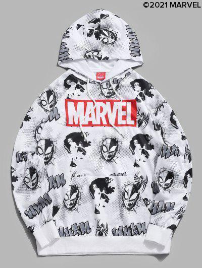 Marvel Spider-Man Venom Comic Graphic Hoodie - White Xl