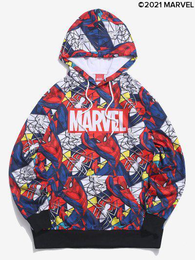 Sudadera Con Capucha Estampado Spider-Man - Azul Oscuro De Denim 2xl