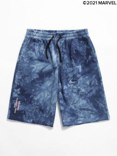 Shorts De Sudor Con EstampadodeLetrasySpider-Mancon Bordado DeSpider-Man - Azul Océano  S